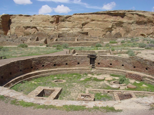 A view of a kiva in the Chetro Ketl great house. Credit: National Park Service.