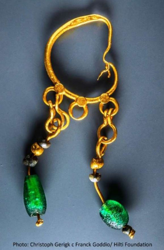 Ptolemaic gold earring.