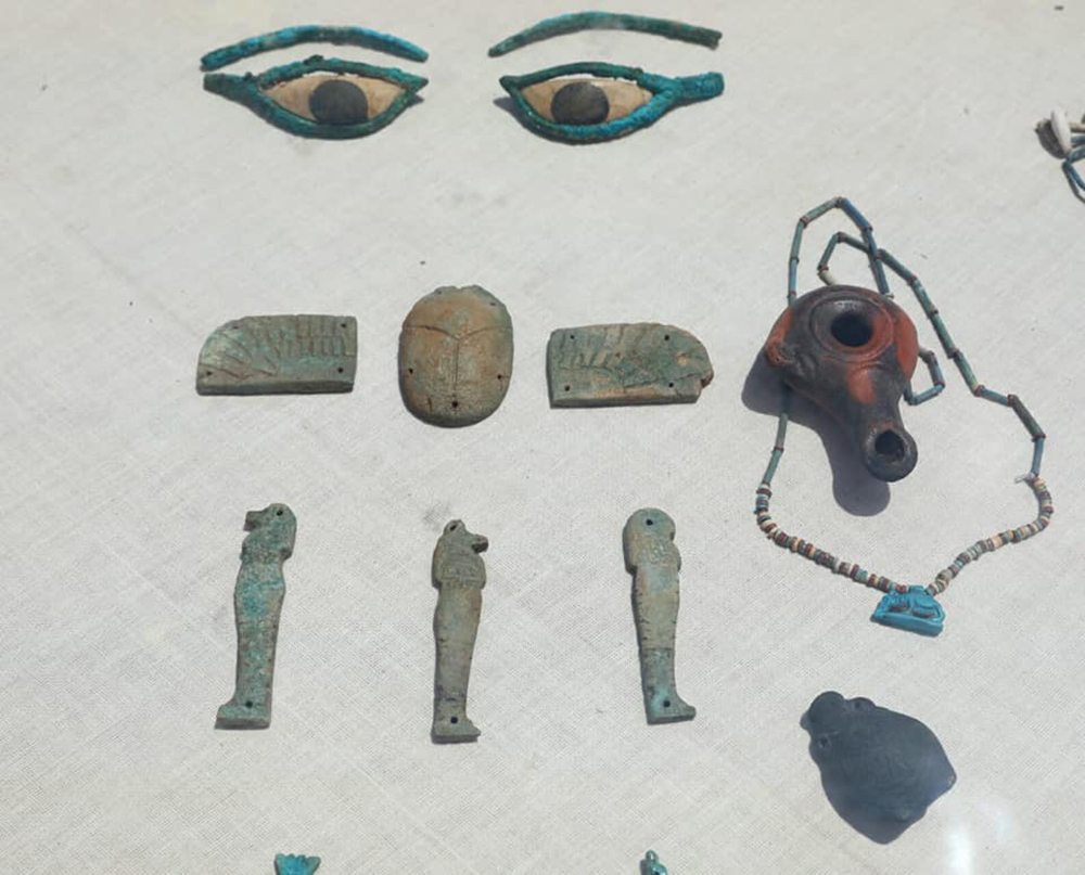Faience amulets from Al-Lahun.