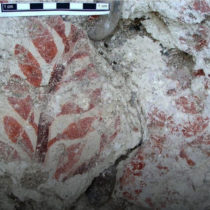 The oldest known forerunners of fresco paintings in the Mediterranean