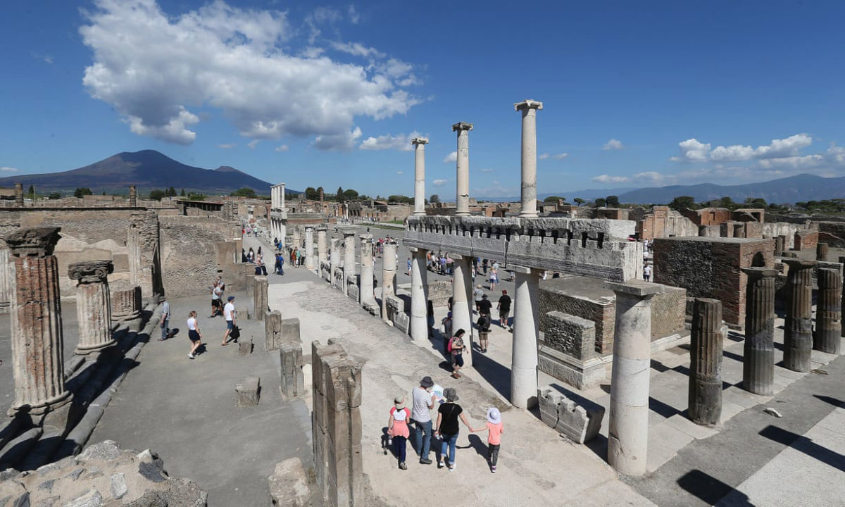 Of the 66 hectares of the archaeological area, only 44 have been excavated. Photo Credit: Marco Cantile/LightRocket via Getty/The Guardian,