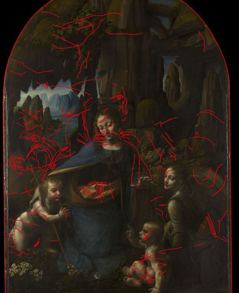 The discovery of the underdrawing was first announced in 2005. Image Credit: BBC/The National Gallery.