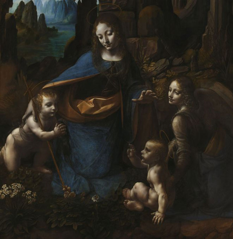 'Virgin of the Rocks' is the short name for da Vinci's famous painting 'The Virgin with the Infant Saint John the Baptist adoring the Christ Child accompanied by an Angel'. Photo Credit: BBC/The National Gallery.
