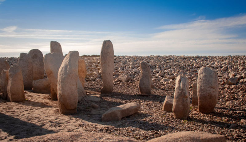 The megalithic stones are arranged in a circular way. Photo Credit: Ruben Ortega Martin/The Local.