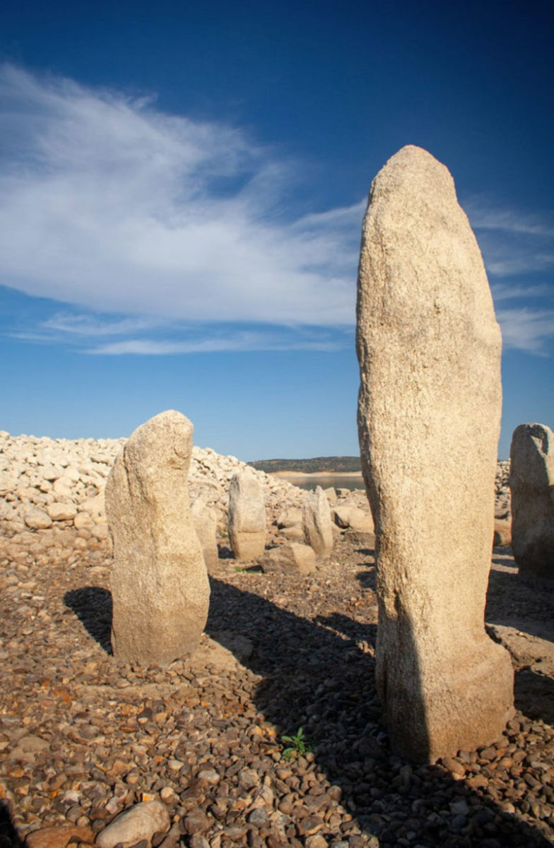 The megalithic standing stones are of granite and are up to 2m high. Photo Credit: Ruben Ortega Martin/The Local.