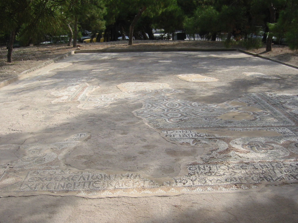 The 4th-century synagogue floor mosaic from the Greek Aegina island. Photo Credit: Friends of the Mosaic Floor of the Aegina Synagogue Project/The Times of Israel.
