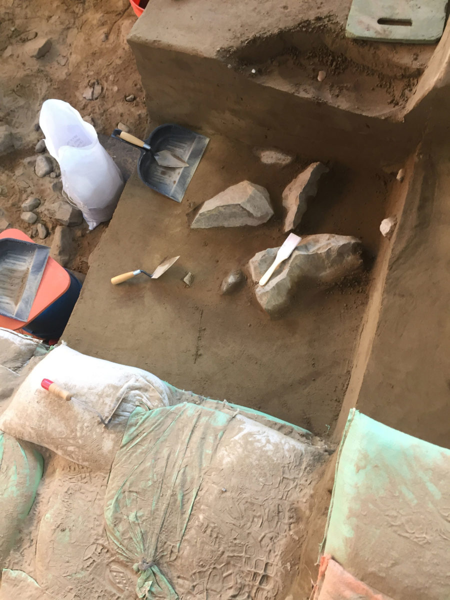 The artefacts include stone tools. Photo Credit: Loren Davis/PHYS ORG.