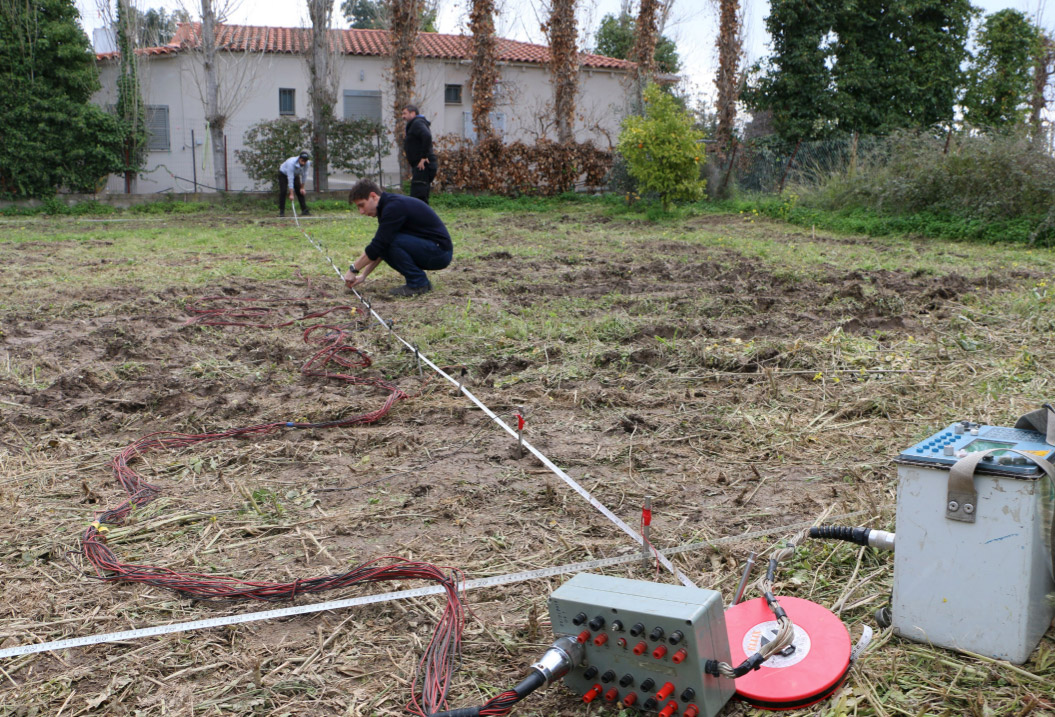 Geophysical survey of the site during the winter preceding the excavation (photo: Ministry of Culture and Sports)