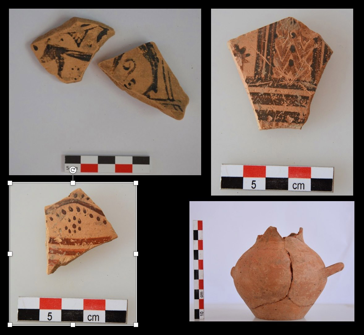 Fragments of geometric vases from the region of the sanctuary (photo: MOCAS)