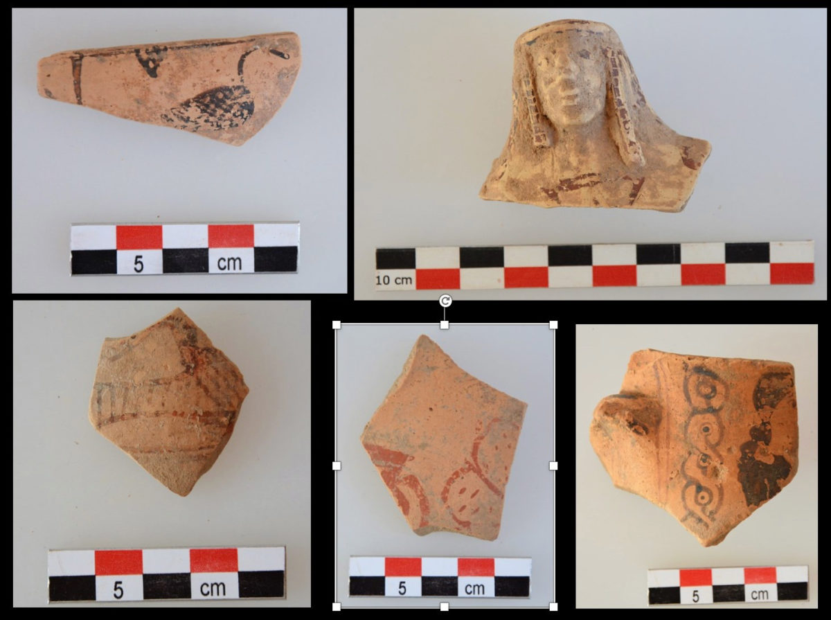 Fragments of archaic vases from the region of the sanctuary (photo: MOCAS)