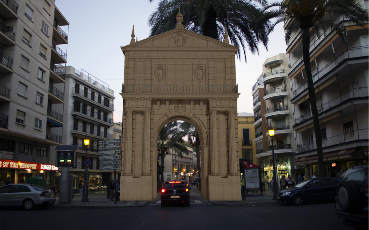 Puerta de Triana, virtual reconstruction. Credit:  Universidad de Sevilla