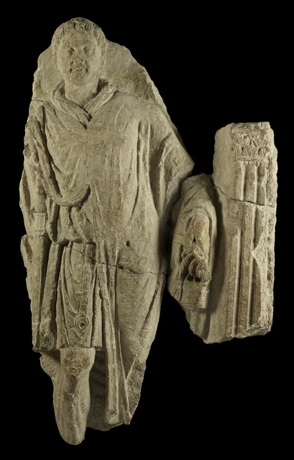 A soldier's tombstone from Roman-era London Credit: Museum of London