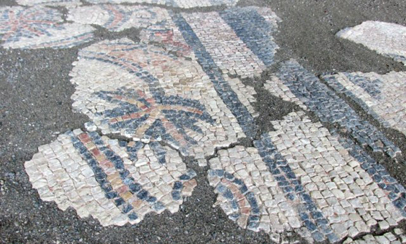 The mosaic discovered in Skelani village (photo: The Srpska Times).