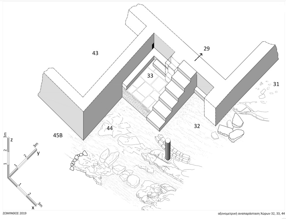Fig. 10. Axonometric reconstruction of Areas 32, 33 and 44 (photo: Ministry of Culture).