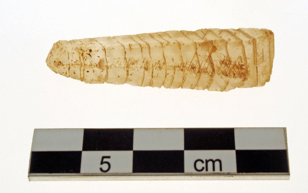 Fig. 12. Crystal amulet found during this year's excavation (photo: Ministry of Culture).