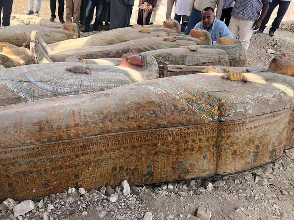 Coffins found at Assasif. Photo: Luxor Times