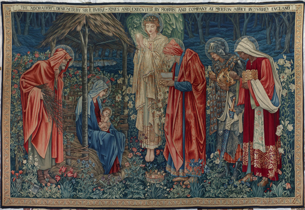 Tapestry: The Adoration of the Magi William Morris & Co., United Kingdom Merton Abbey Mills, Surrey (now Greater London) Design: Edward Burne-Jones (1833–1898) Date: 1890 Material: wool Size: 255 × 379 cm