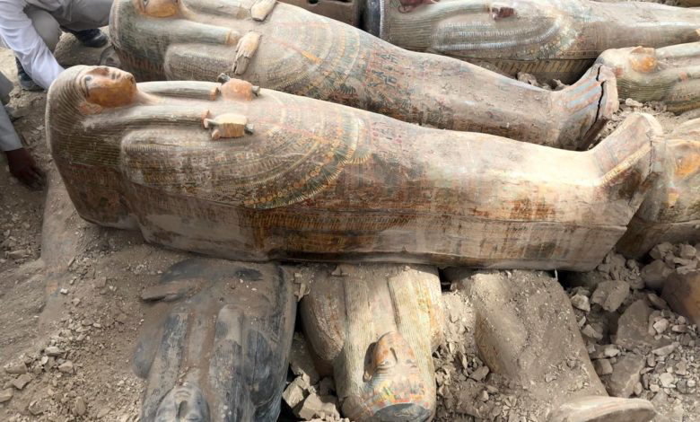 Asasif wooden coffin discovery. Credit: Luxor Times