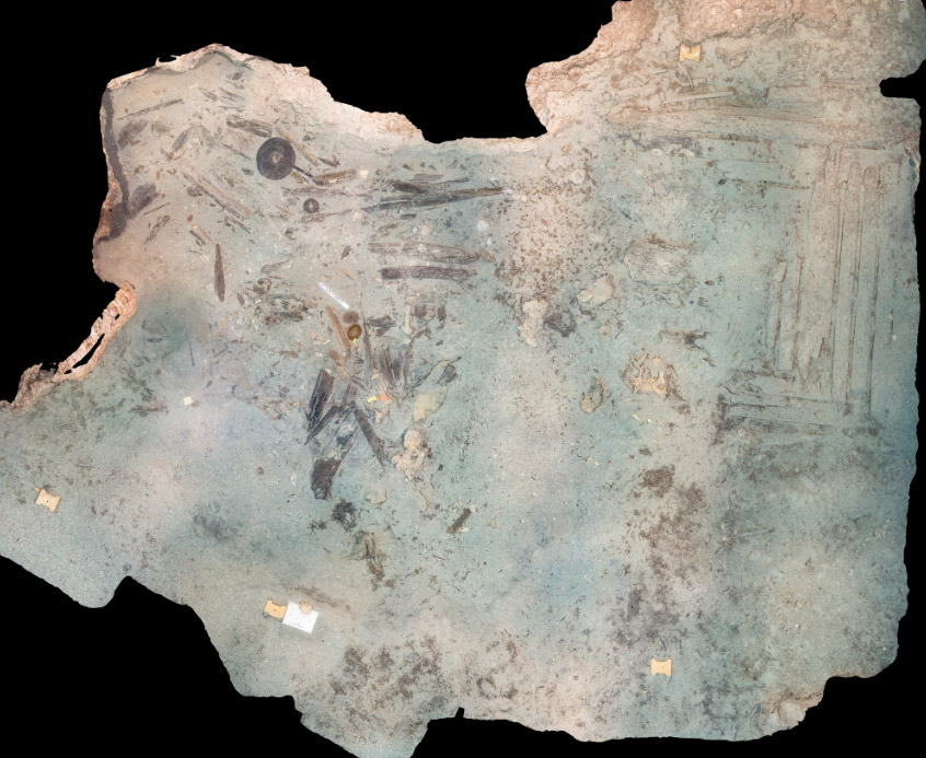 Fig. 4. Photomosaic of excavation site (photograph and processing: Y. Issaris)
