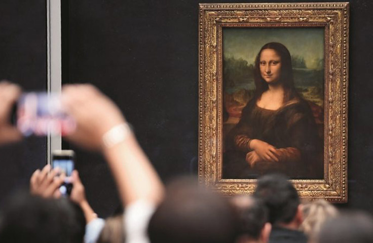 Mona Lisa, also called Portrait of Lisa Gherardini, wife of Francesco del Giocondo, Italian La Gioconda, or French La Joconde, oil painting on a poplar wood panel by Leonardo da Vinci.  Photo credit: AFP