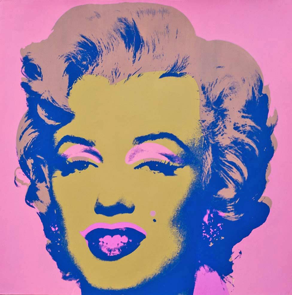 Portrait of Marilyn Monroe by Andy Warhol.