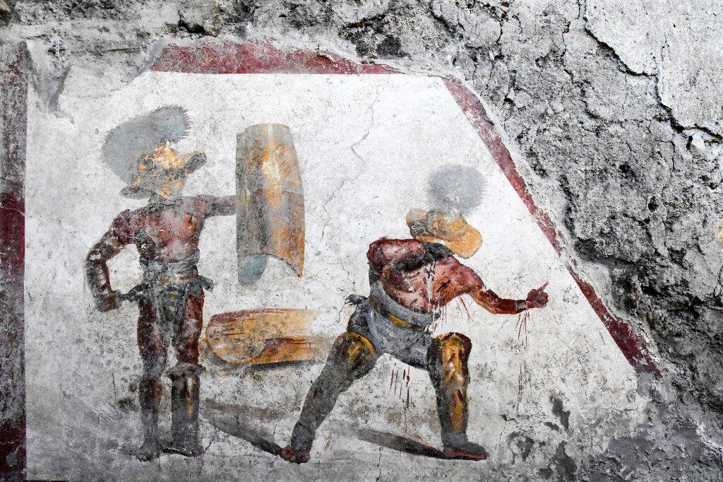 The fresco measures 1.12 by 1.5 metres.