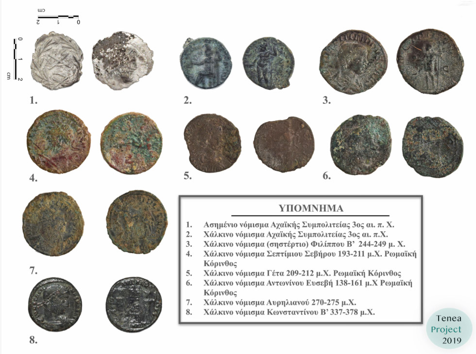 Coins discovered during the excavation (photo: MOCAS).