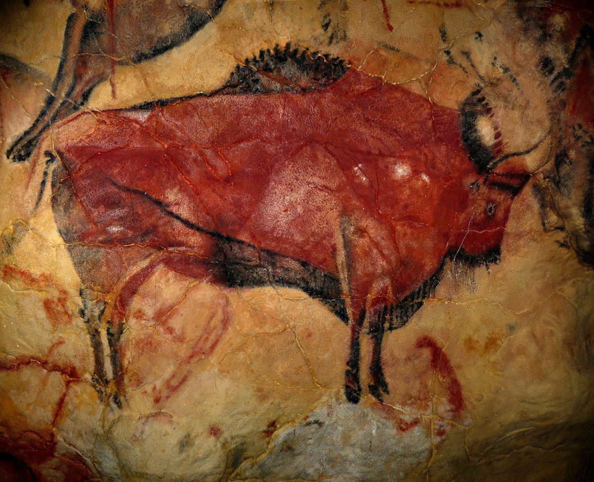 Painting of a Bison (c.15,000 BCE) from the Altamira Cave Complex. Credit: CC0 Public Domain.