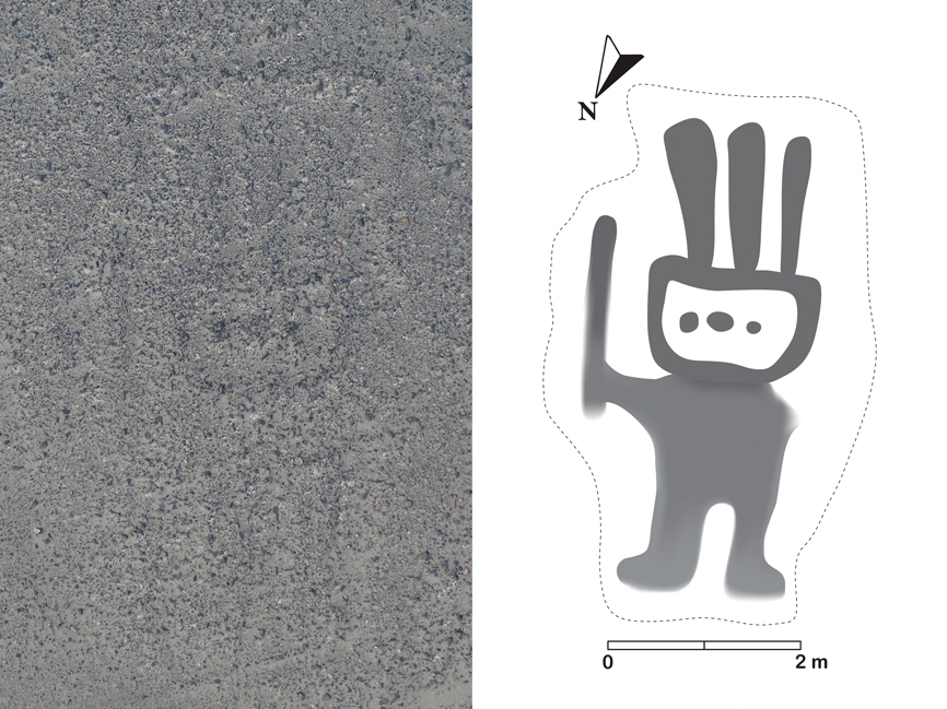 The geoglyph discovered using IBM Watson Machine Learning Community Edition.