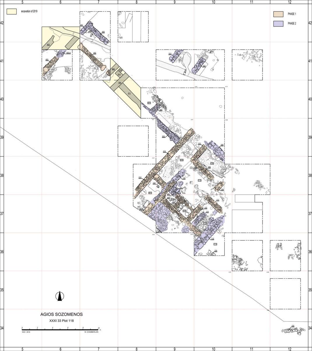 Excavation plan of Agios Sozomenos.