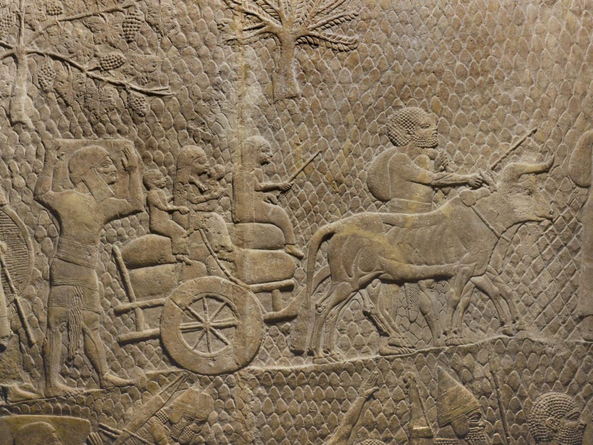Deportees after the Assyrian siege of Lachish, Judea (701 BCE). Detail from bas-relief removed from Sennacherib's 'Palace Without Rival,' Nineveh, Iraq, and now in The British Museum. Credit: The British Museum