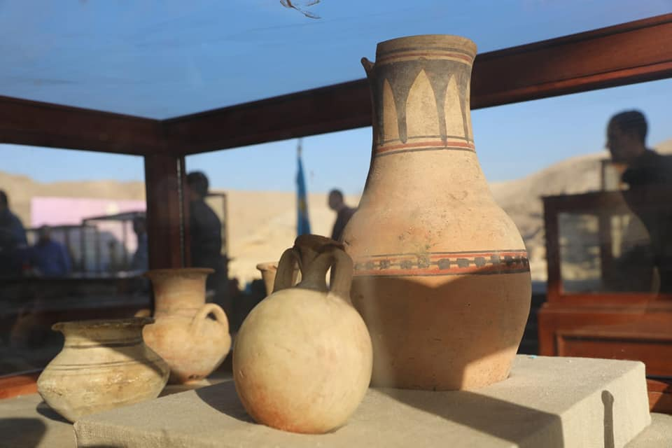 Clay vessels.