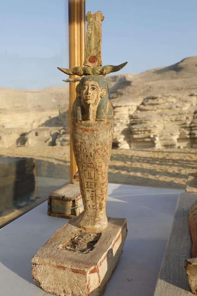 Wooden statue of Ptah Sokar.