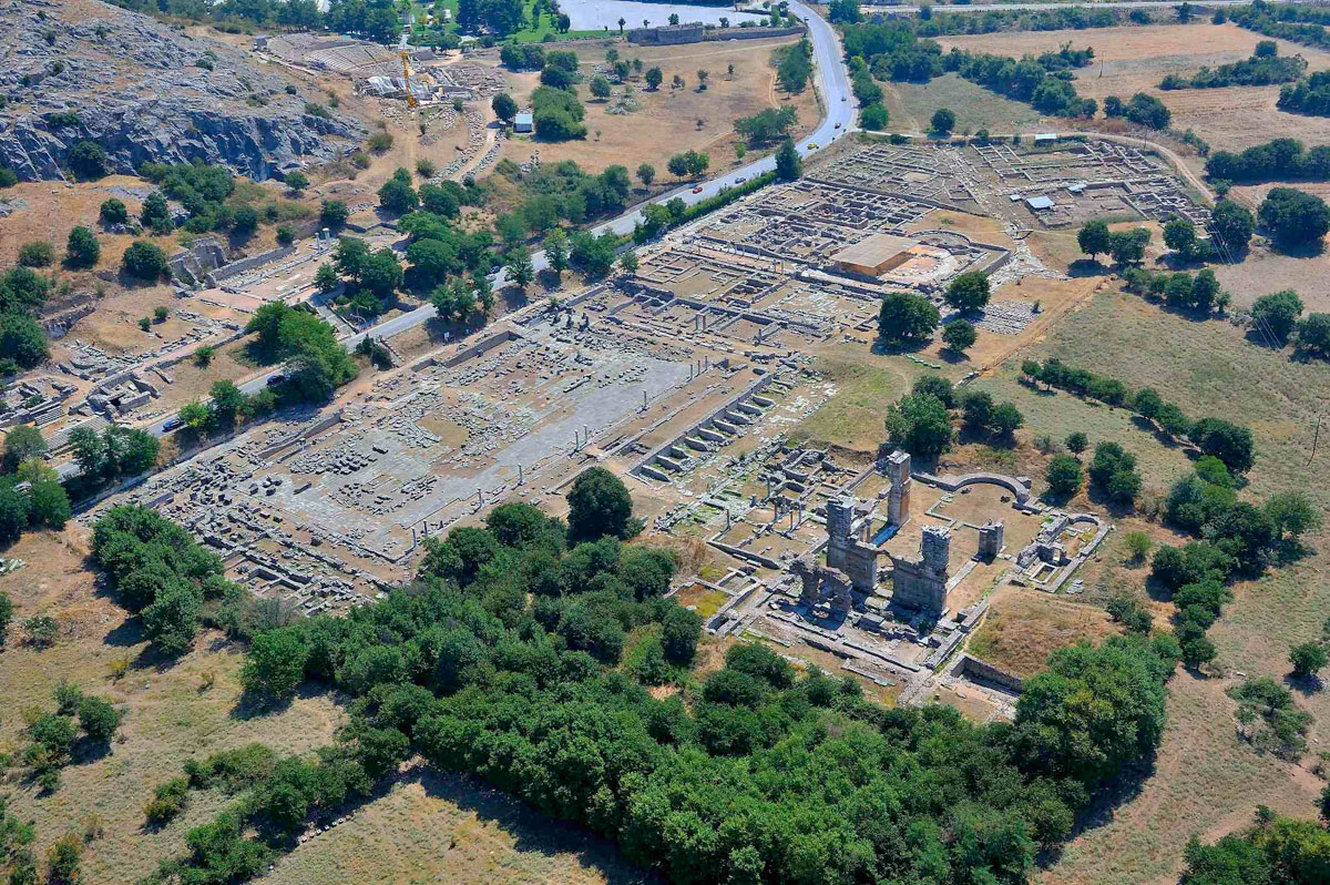The archaeological site of Philippi (photo: Athens and Macedonia News Agency).