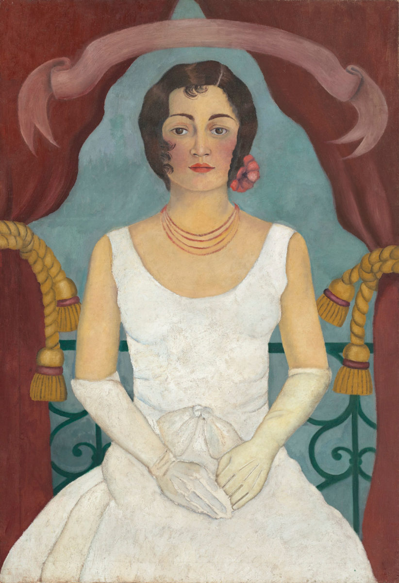 "Frida Kahlo ""Portrait of a Lady in White"", 1929 (photo: Christie's)."