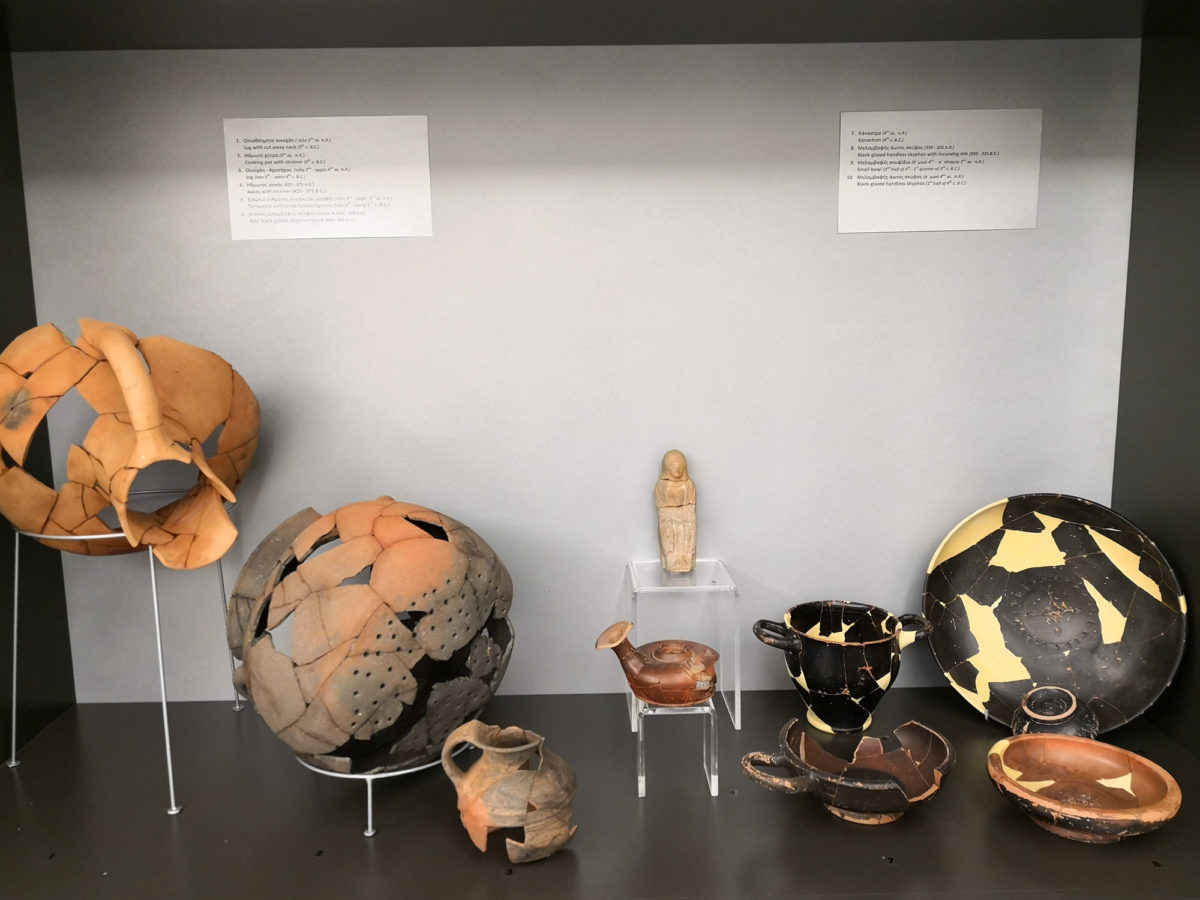 View of the temporary exhibition at the Archaeological Museum of Karditsa (photo: Apostolis Zois / AMNA)