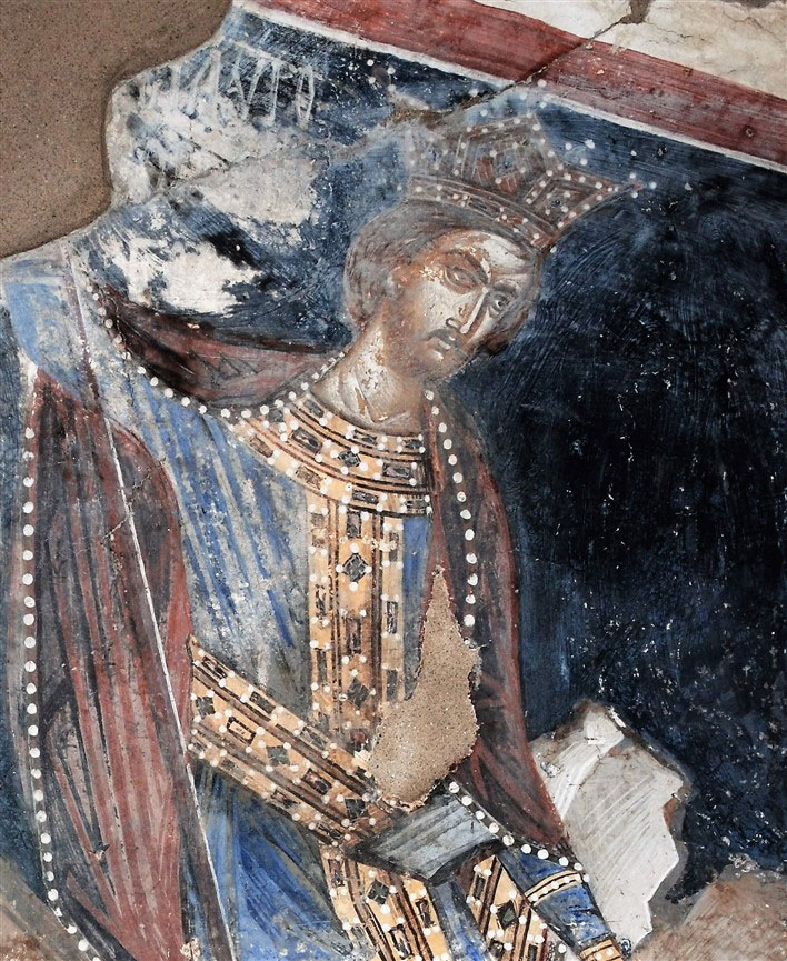 Alexander the Great in a wall painting of the church (photo: Imathia Ephorate of Antiquities)