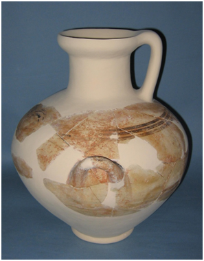Mycenaean hydria from Building H.