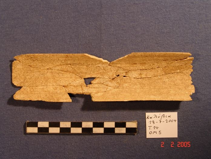 Fig. 1 Bone palette from tomb 14 at the EC I Ancient Elis cemetery.