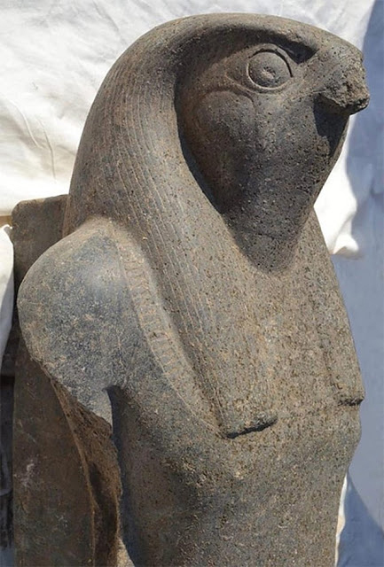 The statue was found during excavations carried out at the Funerary Temple of king Amenhotep III. Credit: Ministry of Antiquities