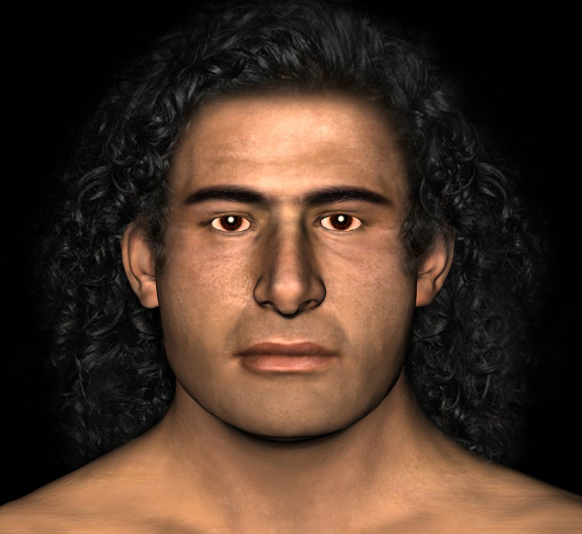 The University of Witwatersrand in South Africa used facial reconstruction to see what the Griffin Warrior probably looked like. Graphic/Tobias Houlton and Lynne Schepartz