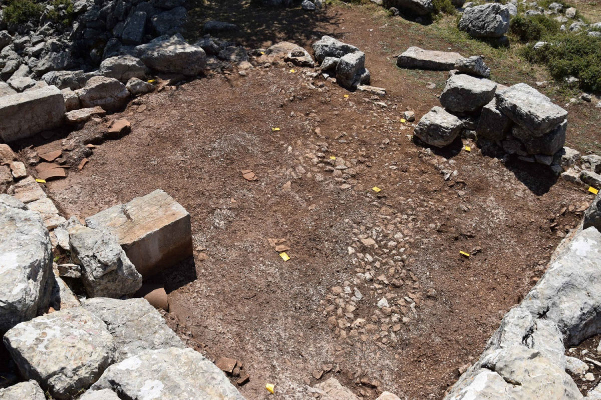 View of the excavation (photo: Arcadia Ephorate of Antiquities, Mount lykaion excavation and survey project).
