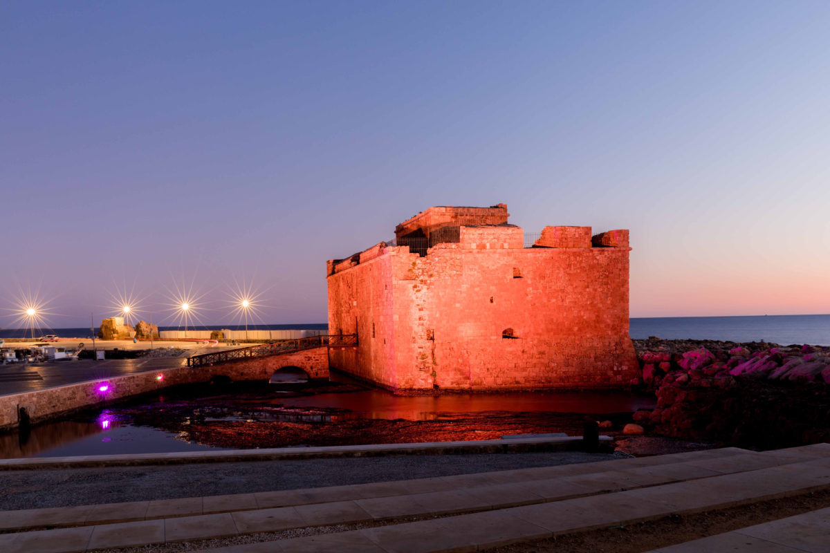 The Pafos Medieval Castle had been closed to visitors for a period of about two and a half months, due to the upgrading of its electrical installation and the installation of specialized lighting, including the possibility of alternating the colour of the lighting on both its exterior and interior surfaces.