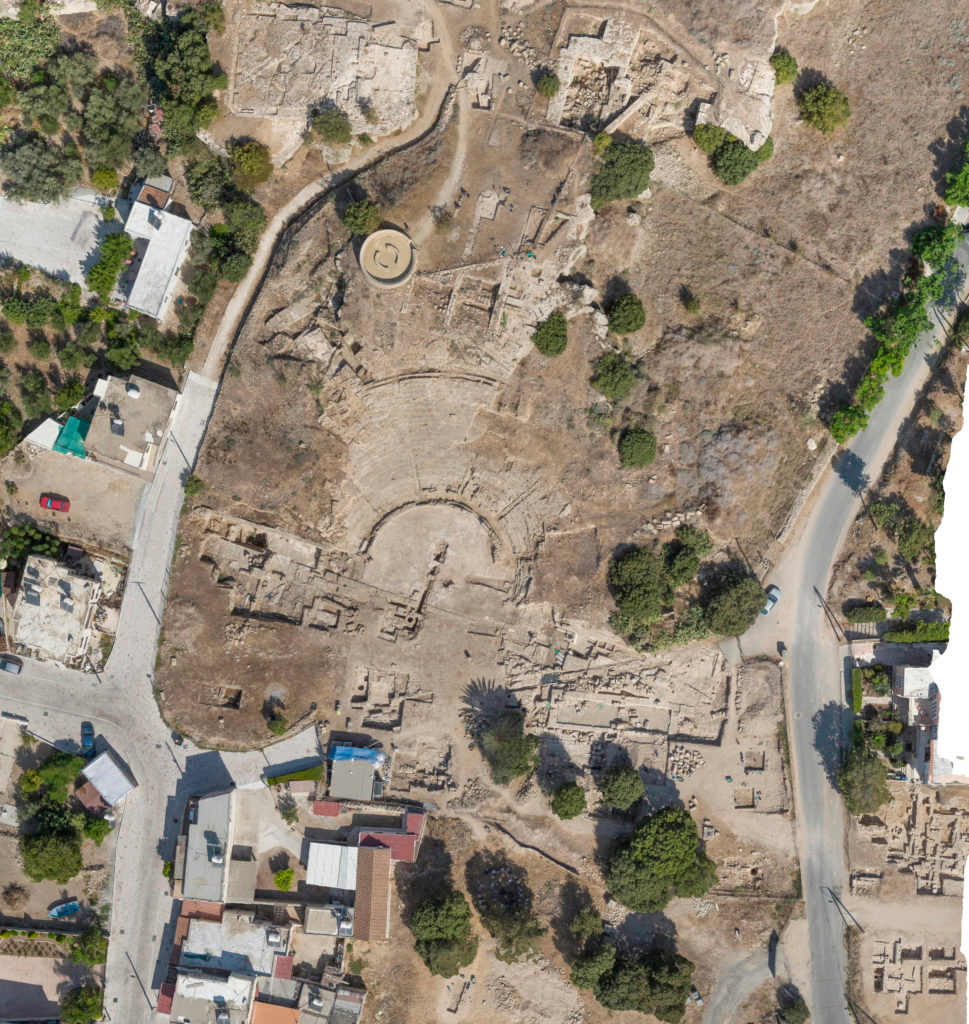 Drone image of the Paphos Theatre site (by Dr Rowan Conroy).