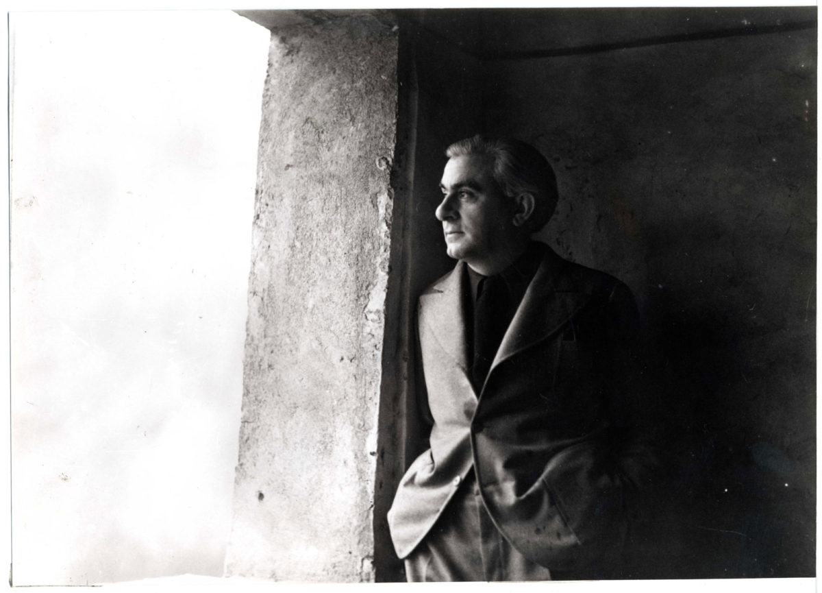 Christian Zervos in 1933. Unknown photographer. Courtesy of Christian Derouet, Musée Zervos, Vézelay.