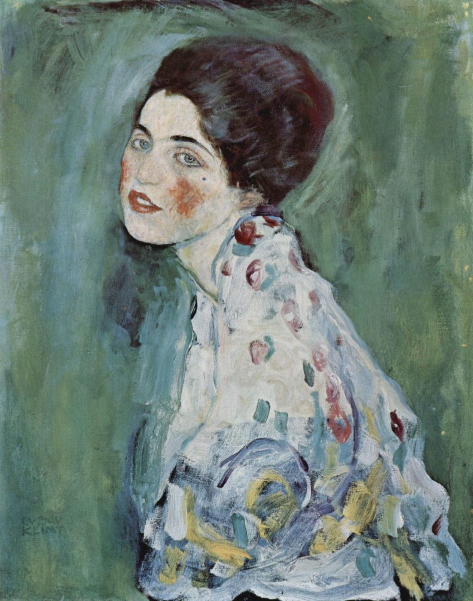 "Gustav Klimt, ""Portrait of a lady"" 1916-1917, Galleria d'arte moderna Ricci Oddi, Piacenza (photo: Wikipedia)."