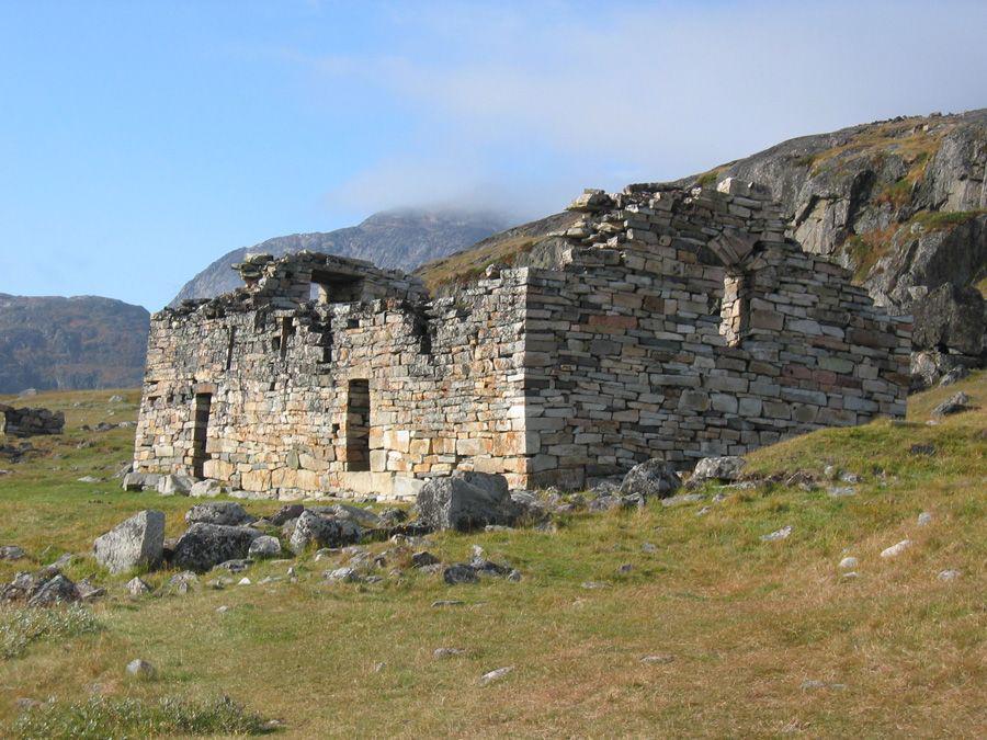 Church ruins from Norse Greenland's Eastern Settlement. Credit: J.H. Barrett.