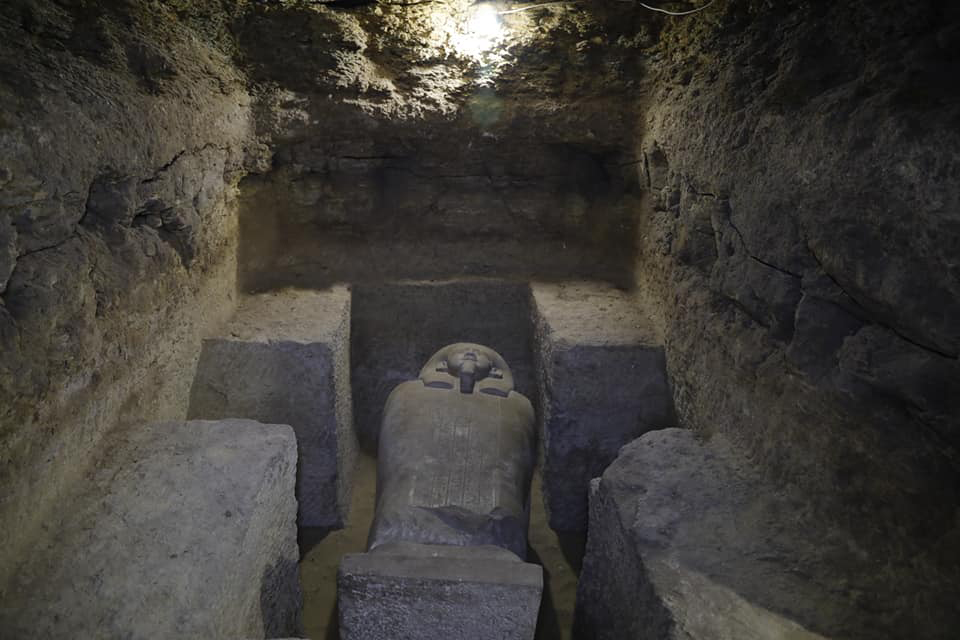 Stone sarcophagus from Tuna el Gebel.