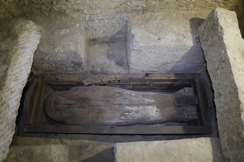 Wooden sarcophagus from Tuna el Gebel.