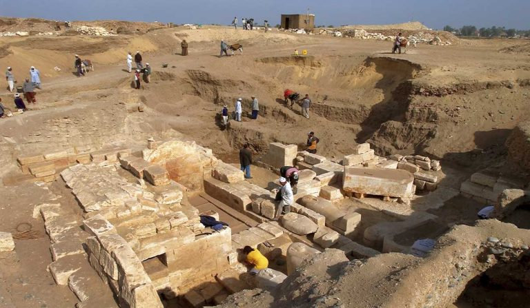 View of the excavations.